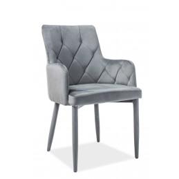 Krzesło Ricardo Velvet szary